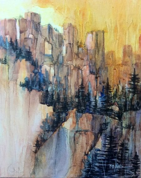 Walls of Zion on canvas